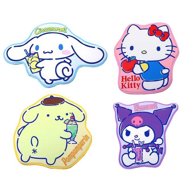 造型涼感地墊 sanrio 凱蒂貓 酷洛米 布丁狗 大耳狗 腳踏墊 日本進口正版授權