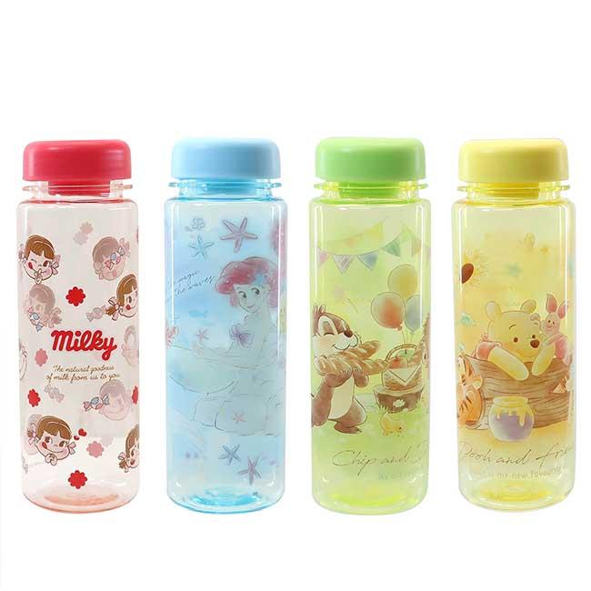 塑膠冷水瓶 奇奇蒂蒂 小熊維尼 小美人魚 不二家 隨手瓶 日本進口正版授權