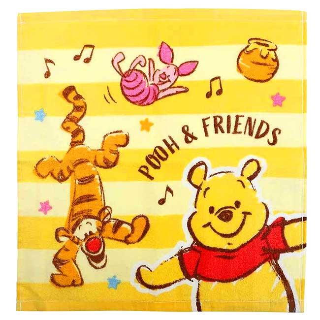 純棉割絨方巾 Disney 小熊維尼 POOH 迪士尼 毛巾 日本進口正版授權