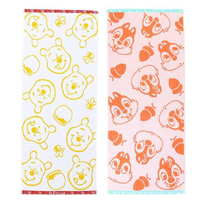 純棉割絨毛巾 迪士尼 小熊維尼 奇奇蒂蒂 SEK抗菌防臭 日本進口正版授權