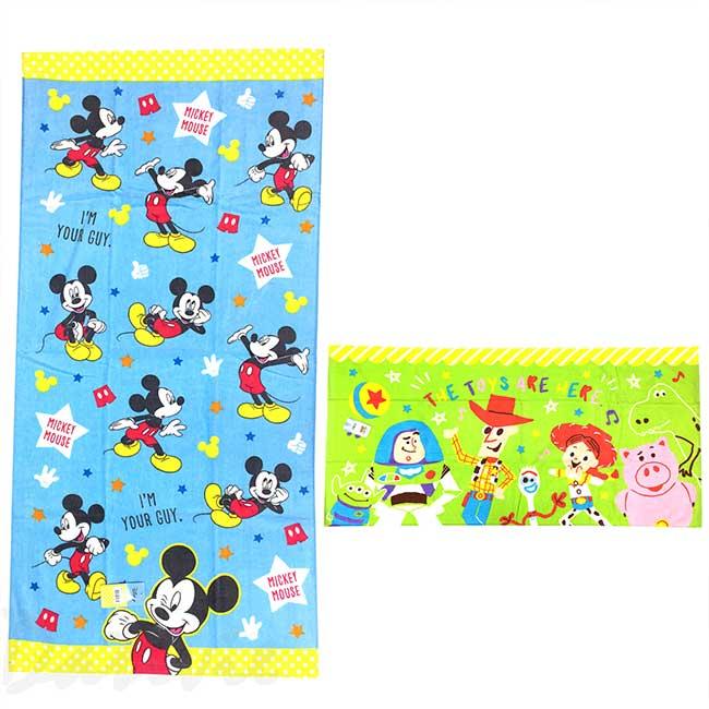 純棉大浴巾 Disney 皮克斯 玩具總動員 米奇 大毛巾 日本進口正版授權