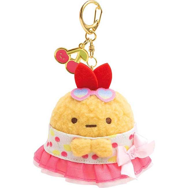 絨毛娃娃吊飾 san-x 角落生物 炸蝦 櫻桃 鑰匙圈 日本進口正版授權