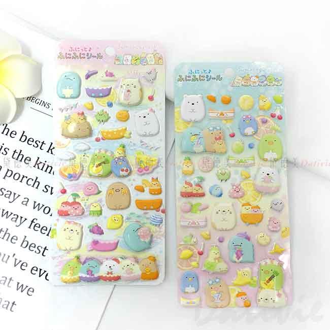 立體貼紙 san-x 角落小夥伴 水果風 Sumikkogurashi 玩具貼紙 日本進口正版授權