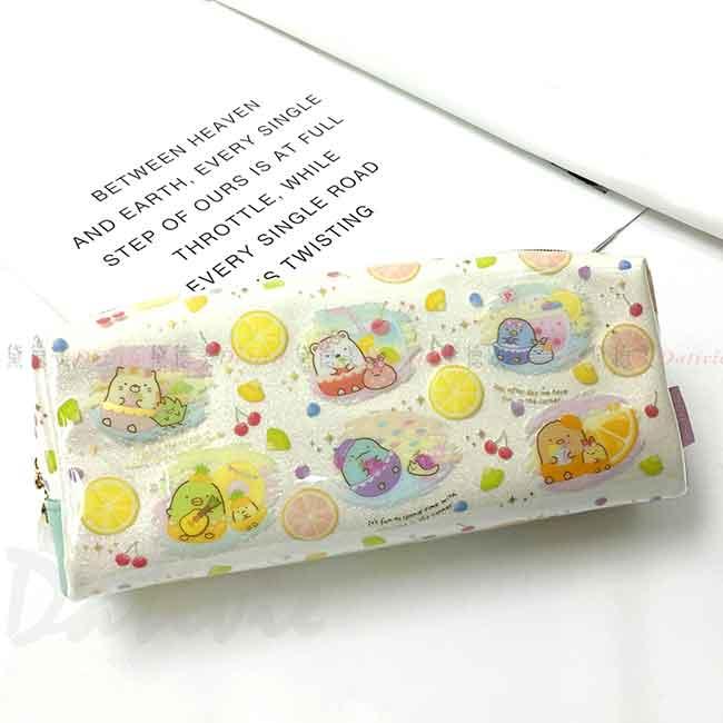 雙拉鍊防水筆袋 san-x 角落生物 角落小夥伴 防水筆袋 日本進口正版授權