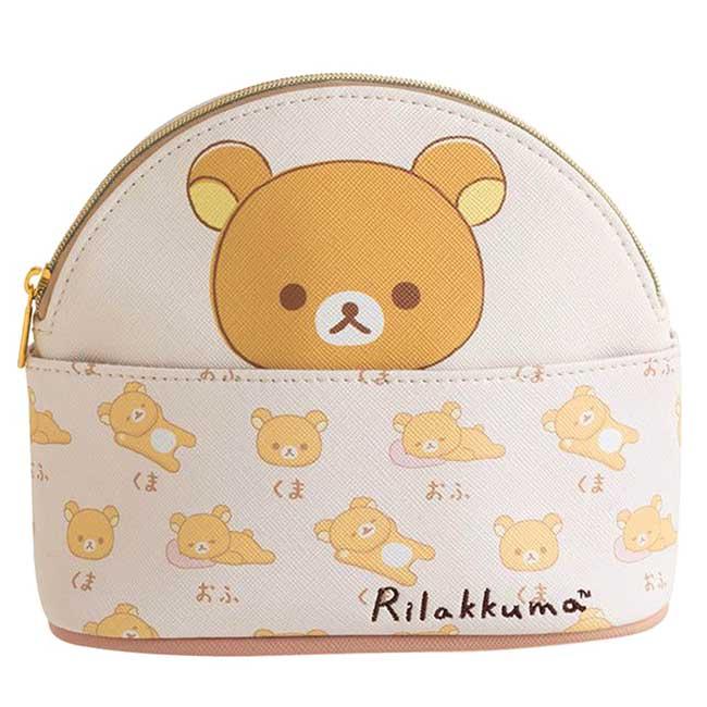 仿皮萬用包 San-x 拉拉熊  Rilakkuma 懶懶熊 化妝包 日本進口正版授權