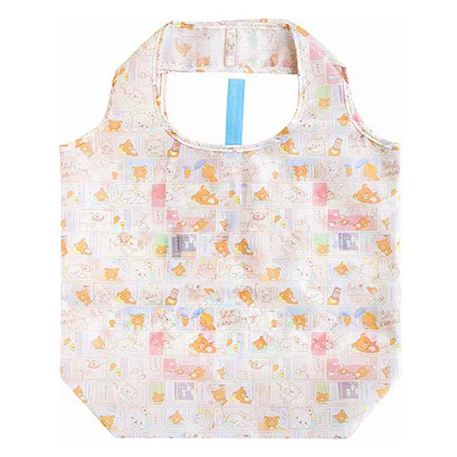 可收納環保購物袋 San-X 拉拉熊 Rilakkuma 懶懶熊 摺疊購物袋 日本進口正版授權