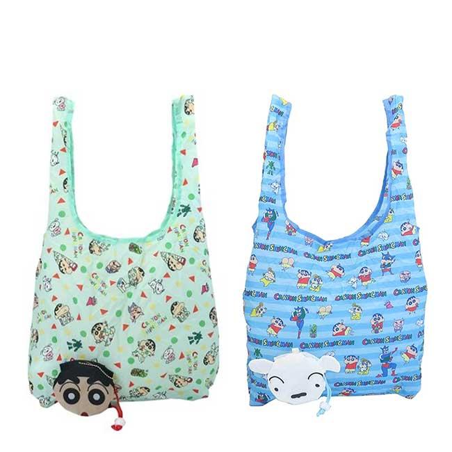 摺疊環保袋 蠟筆小新 小白 Eco Bag クレヨンしんちゃん 購物袋 日本進口正版授權