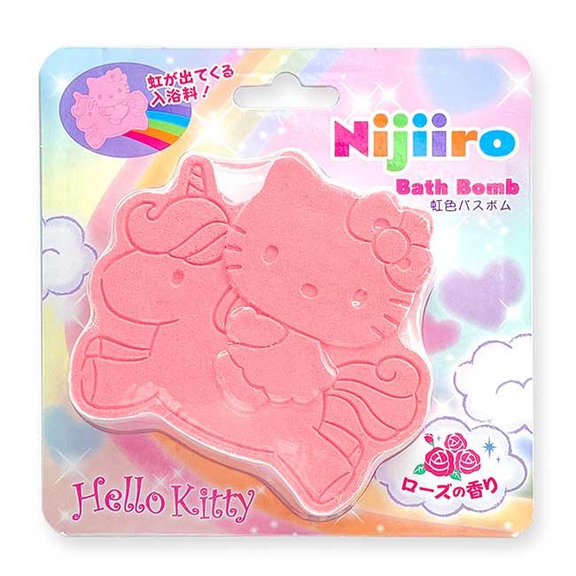 彩虹沐浴球 Sanrio 三麗鷗 KITTY 玫瑰香 OR 薰衣草香 凱蒂貓 Bath Bomb Nijiiro 入浴劑 日本進口正版授權