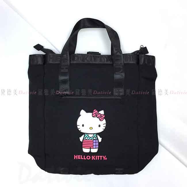 兩用手提後背包 三麗鷗 凱蒂貓 HELLO KITTY 大容量包包 日本進口正版授權