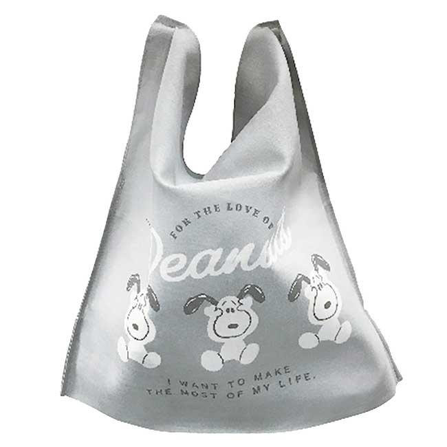 折疊純棉紗布環保購物袋 日本 史努比 SNOOPY PEANUTS 收納袋 日本進口正版授權