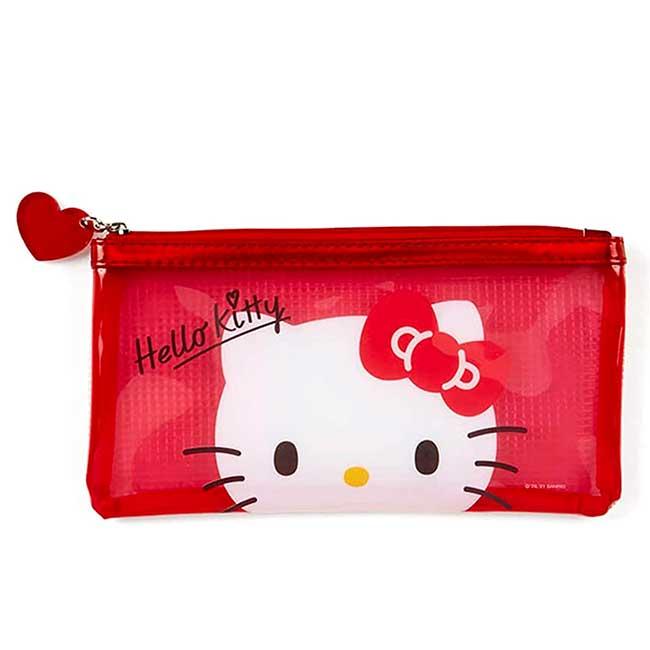 透明筆袋 三麗鷗 Sanrio Original 凱蒂貓 HELLO KITTY 拉鍊筆袋 日本進口正版授權