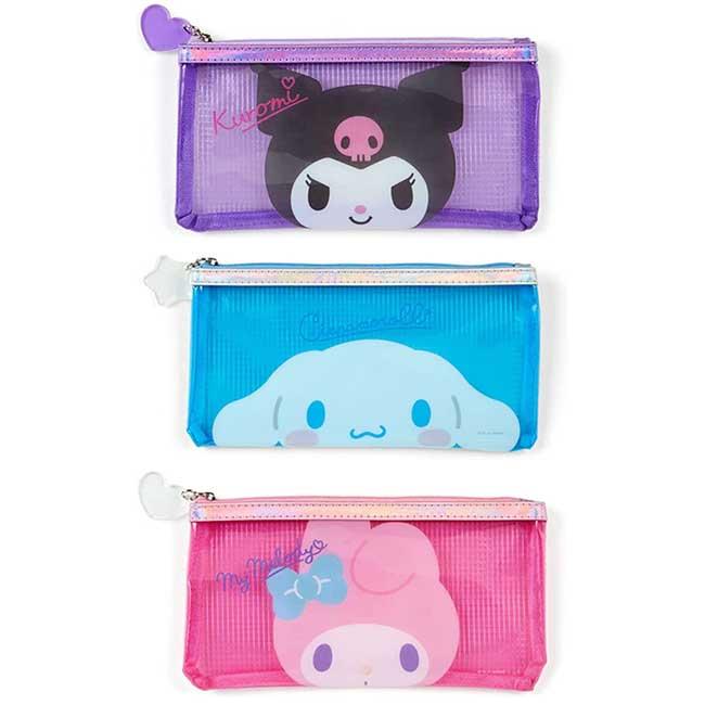透明筆袋 Sanrio Original 美樂蒂 大耳狗 酷洛米 拉鍊筆袋 日本進口正版授權
