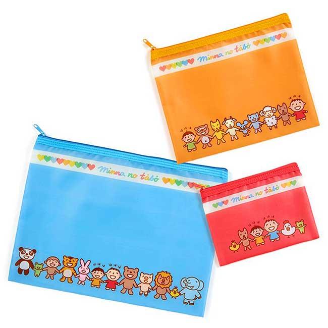 尼龍扁平收納袋組Sanrio Original 大寶 Tabo 三麗鷗 A4收納袋 日本進口正版授權
