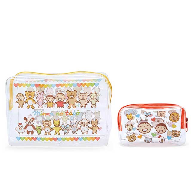 方形防水透明化妝包組 Sanrio Original 大寶 Tabo 收納包 日本進口正版授權