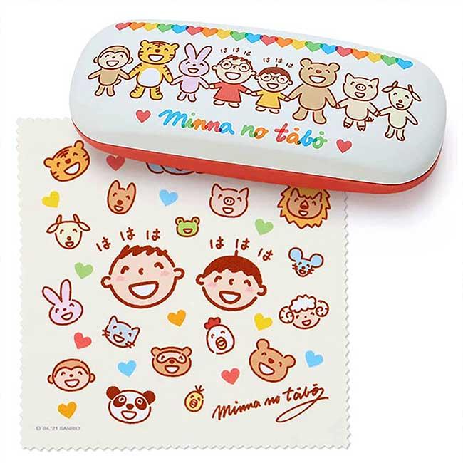眼鏡盒附布 Sanrio Original 大寶 Tabo 三麗鷗 眼鏡收納盒 日本進口正版授權