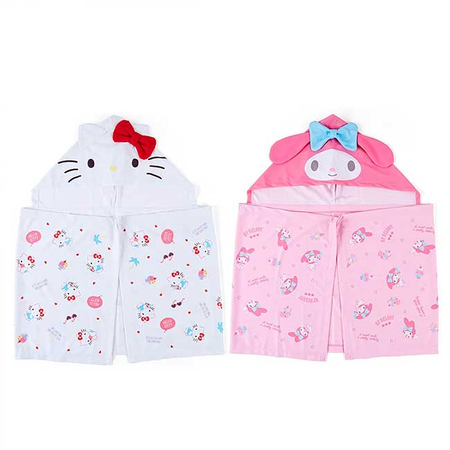 連帽涼感斗篷 三麗鷗 Sanrio Original KITTY 美樂蒂 附夾鏈袋 造型斗篷 日本進口正版授權