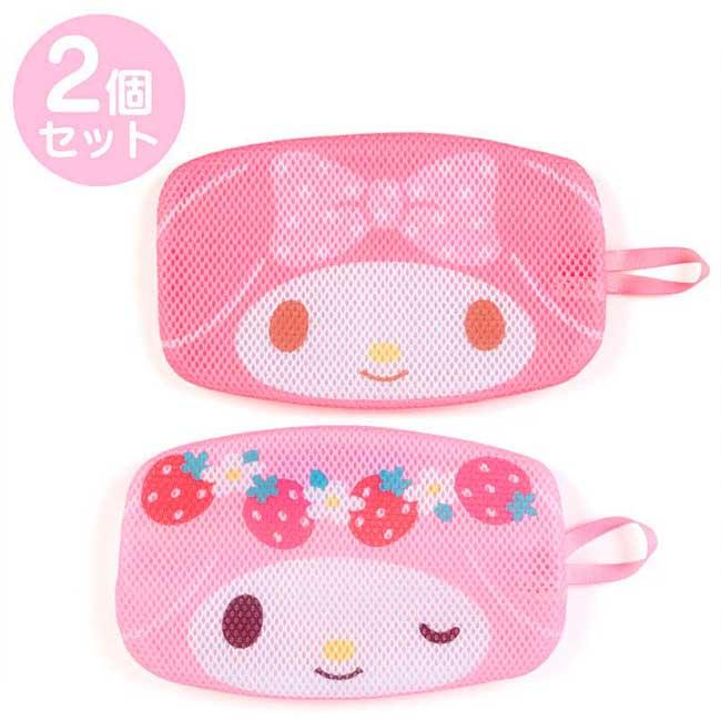 扁平型手提洗衣網袋 Sanrio Original 美樂蒂 口罩網袋 日本進口正版授權