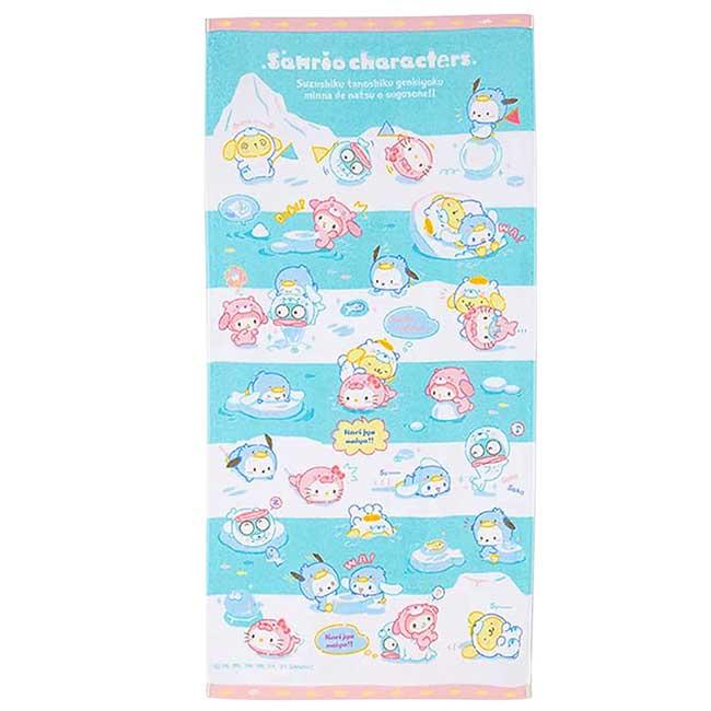 純棉浴巾 Sanrio Original 冰原動物系列 角色大集合 Characters Mix 大浴巾 日本進口正版授權