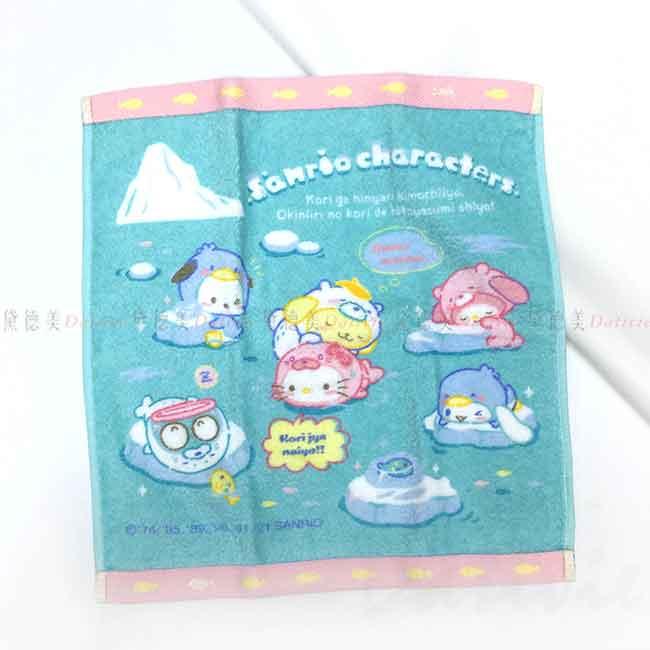 純棉方巾 Sanrio Original 冰原動物系列 角色大集合 Characters Mix 毛巾 日本進口正版授權