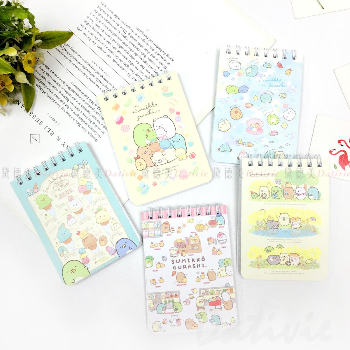 上翻橫條筆記本 San-x 角落生物 花田 購物 布偶 海洋 冰淇淋 memo本 正版授權