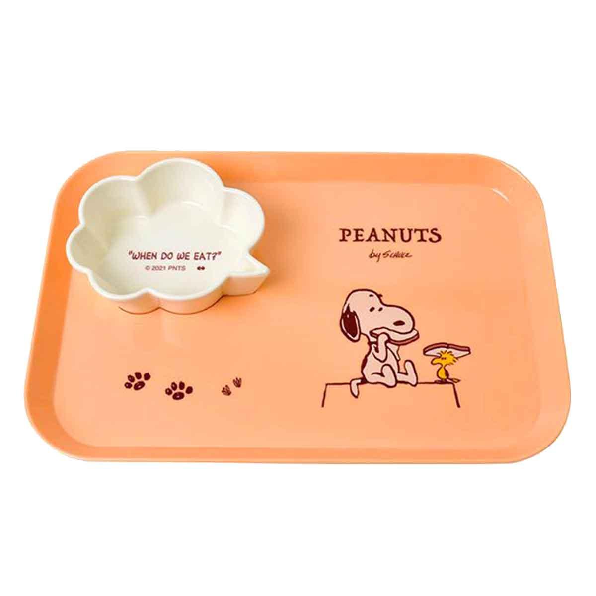 皿盤碟組 史努比 SNOOPY PEANUTS  盤子 日本進口正版授權