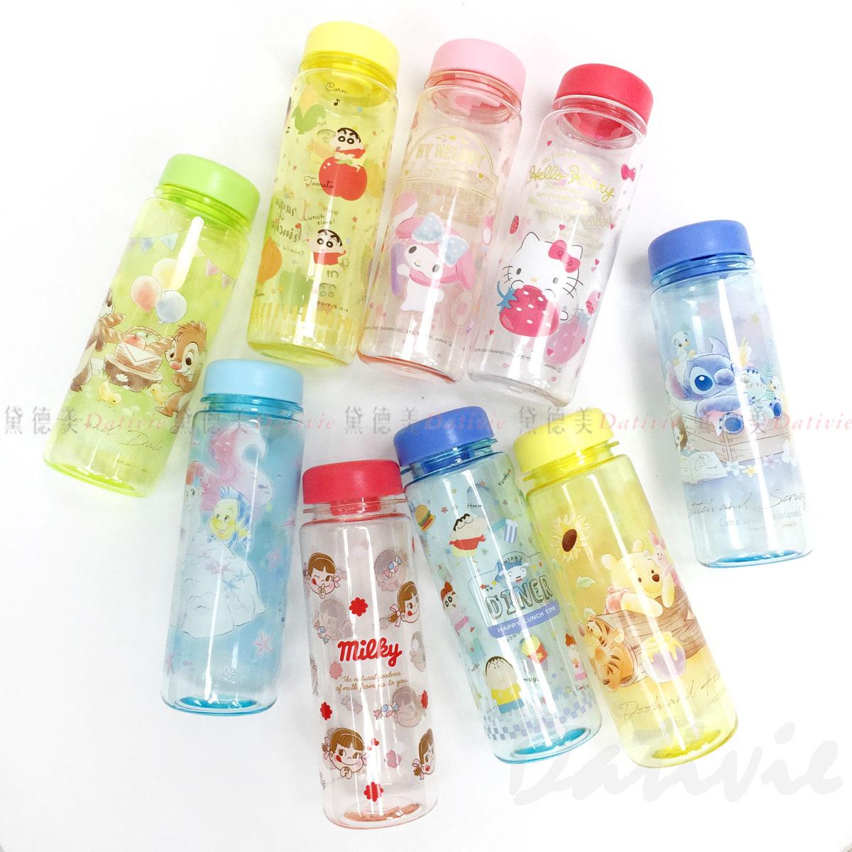 日本正版卡通 透明冷水瓶 500ml-10款   日本進口正版授權