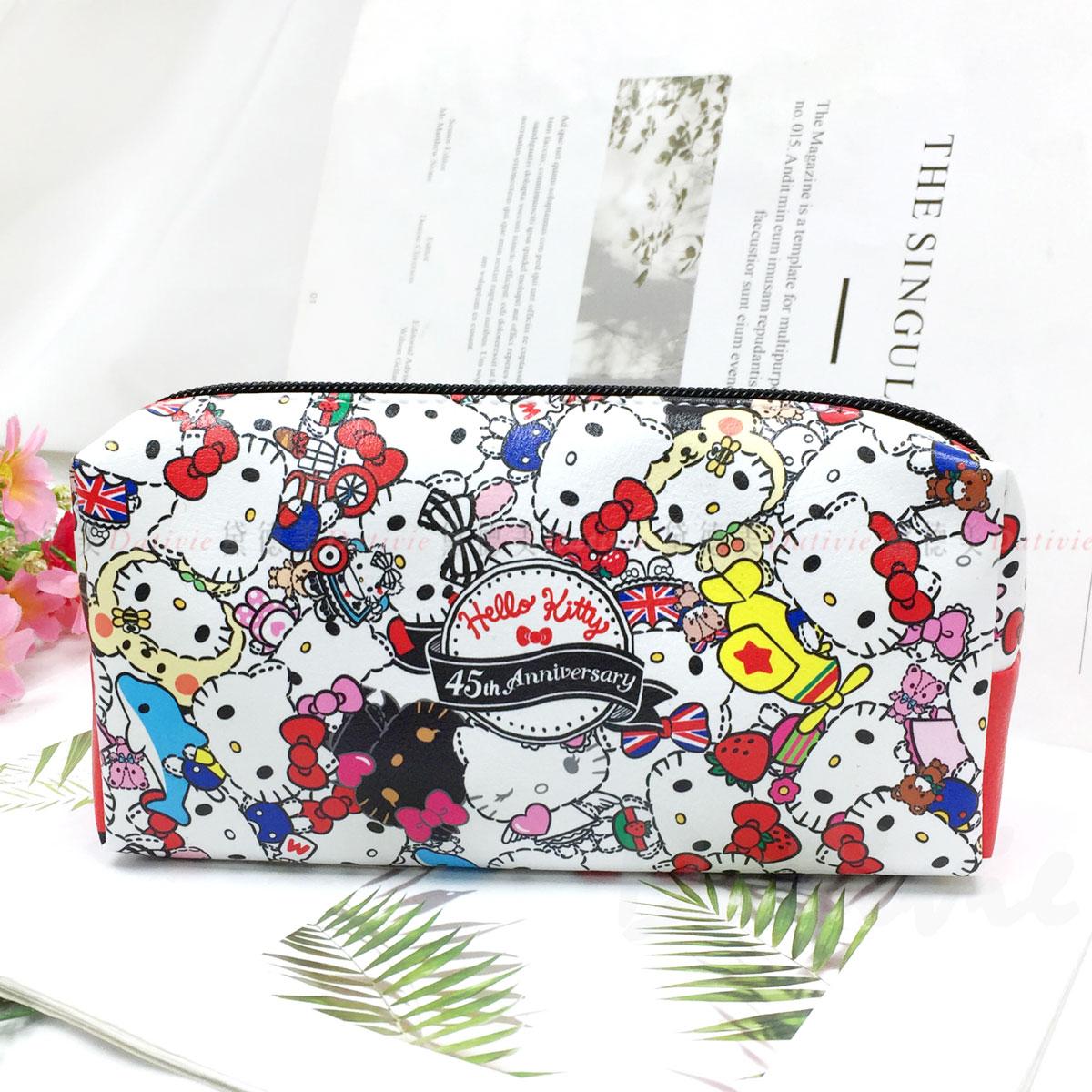 仿皮筆袋-凱蒂貓  HELLO KITTY 三麗鷗 Sanrio 正版授權