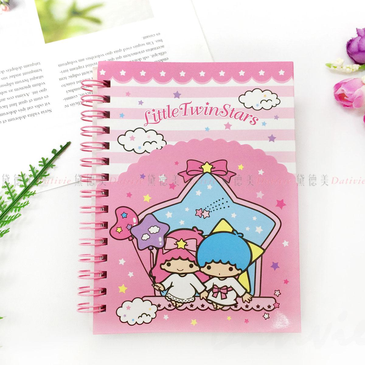 造型夾袋 橫條筆記本-雙子星 Little Twin Stars 三麗鷗 Sanrio 正版授權