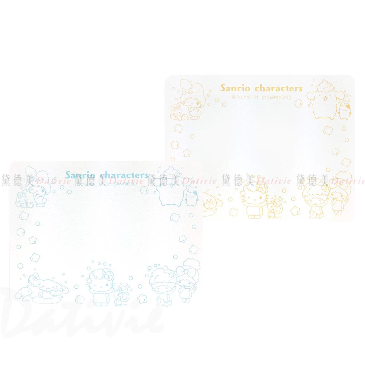 方形珪藻土吸水踏墊 46.7x39cm-角色集合 HELLO KITTY 三麗鷗 Sanrio 日本進口正版授權