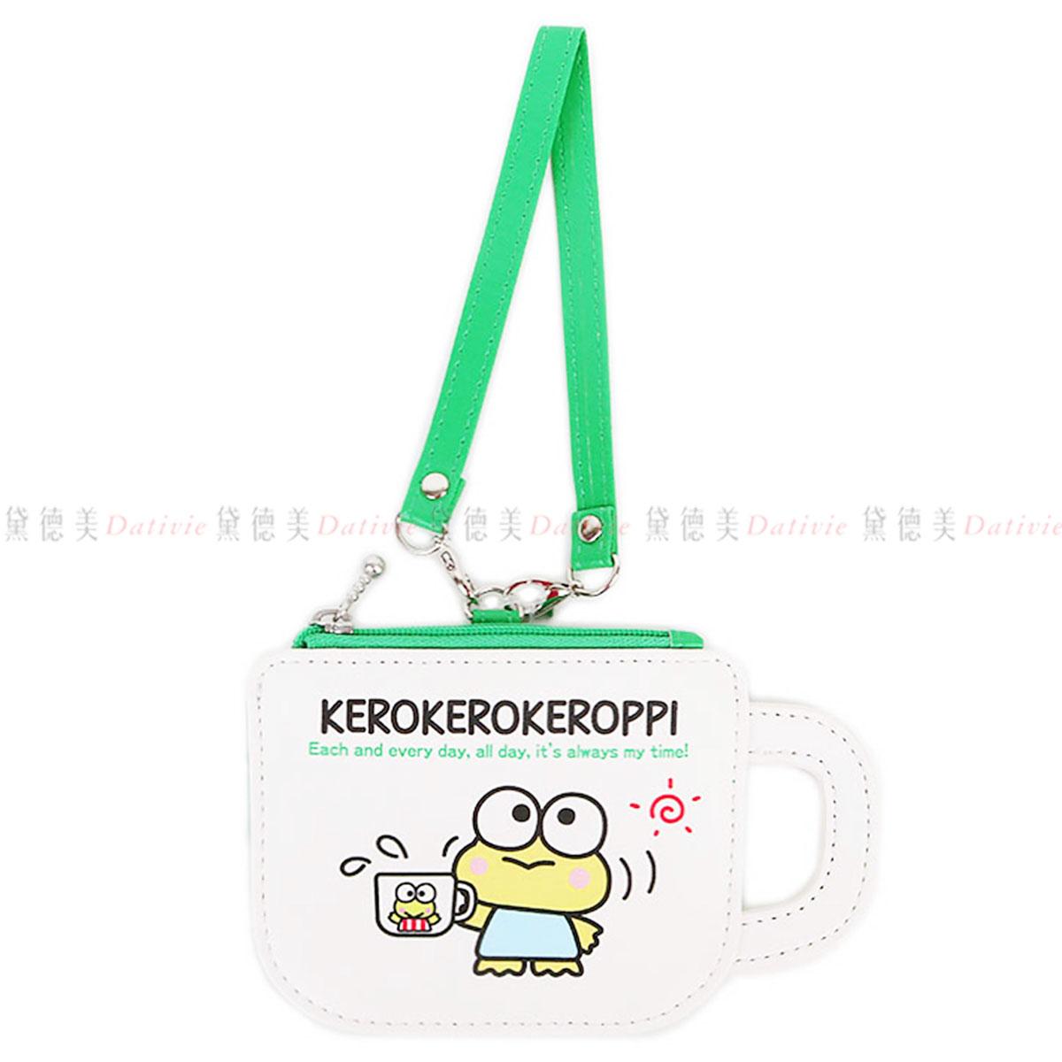 證件票卡零錢包 大眼蛙 Keroppi 三麗鷗 Sanrio Original  日本進口正版授權