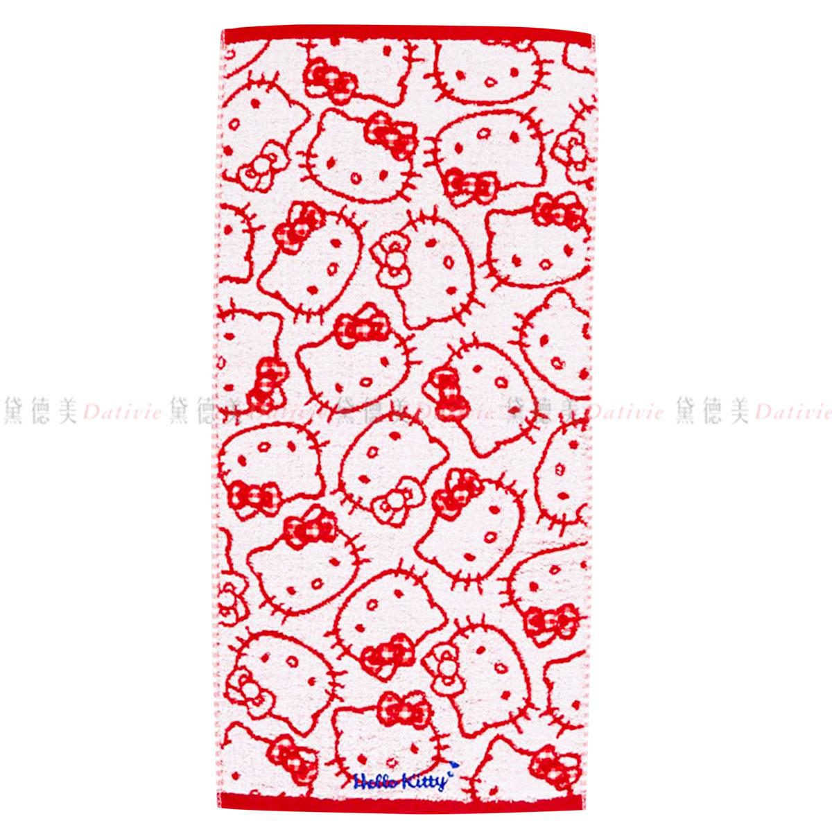 純棉毛巾34x70cm 凱蒂貓 HELLO KITTY 三麗鷗 Sanrio Original  日本進口正版授權