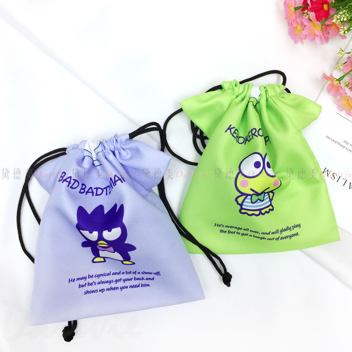 造型束口袋-酷企鵝 大眼蛙 XO Keroppi 三麗鷗 Sanrio 日本進口正版授權