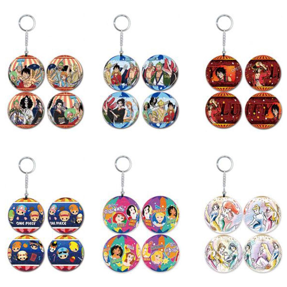 球型拼圖鑰匙圈 迪士尼公主 航海王 24片 立體球型鎖匙圈 正版授權