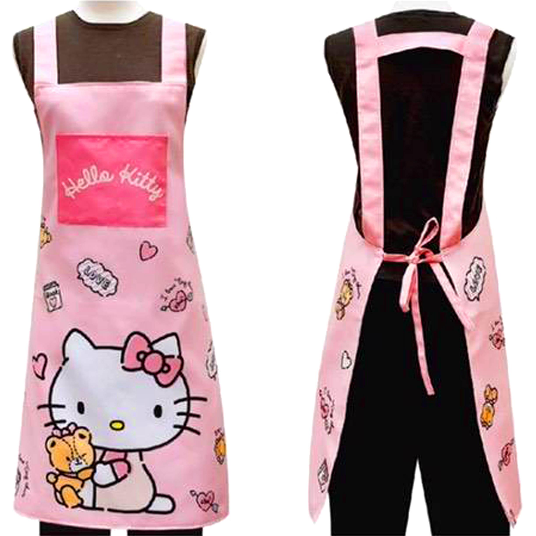 Hello kitty 三麗鷗幸福粉圍裙 圍裙 口袋圍裙 正版授權