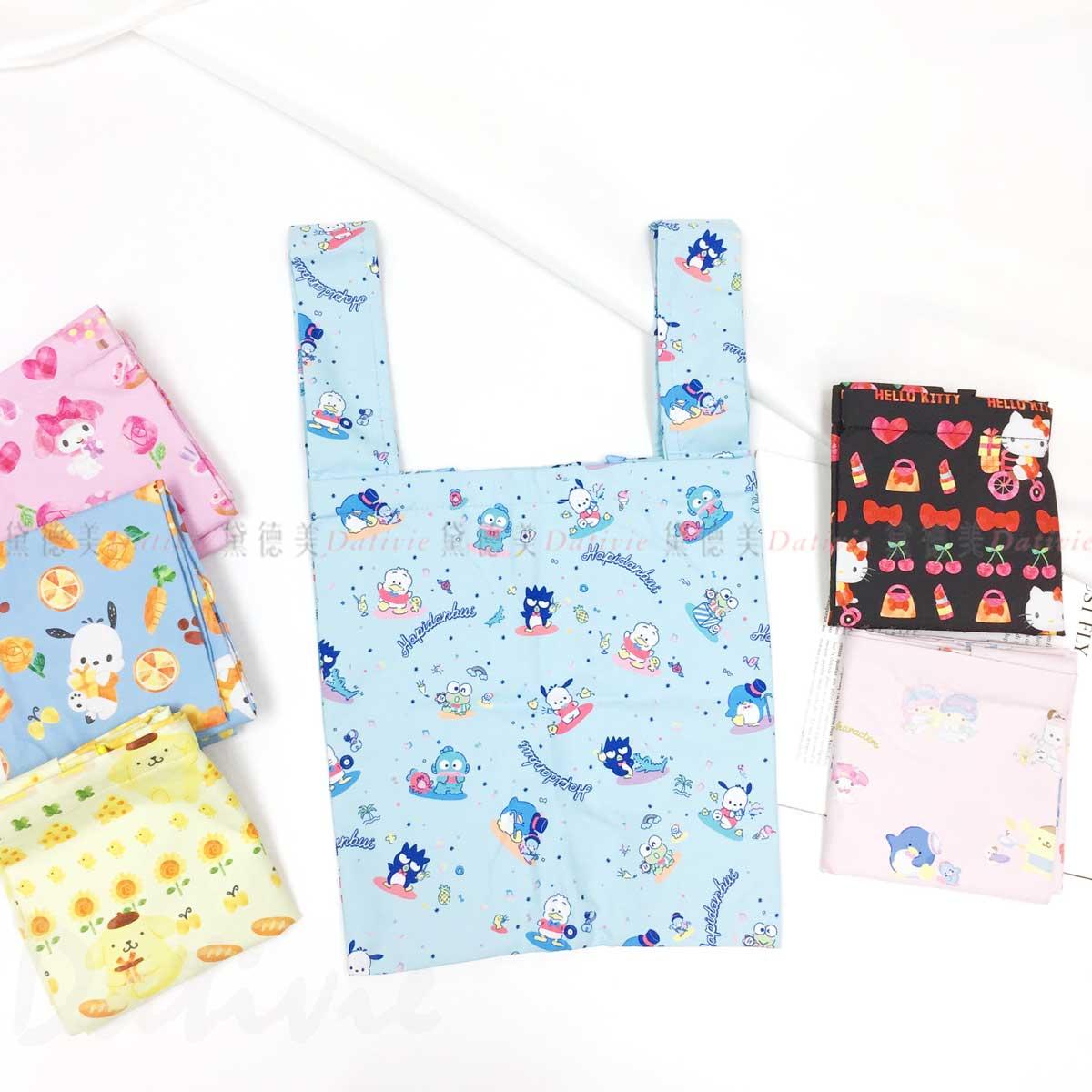 保冷防潑水購物袋-帕洽狗 美樂蒂 布丁狗 凱蒂貓 角色集合 三麗鷗 Sanrio 日本進口正版授權