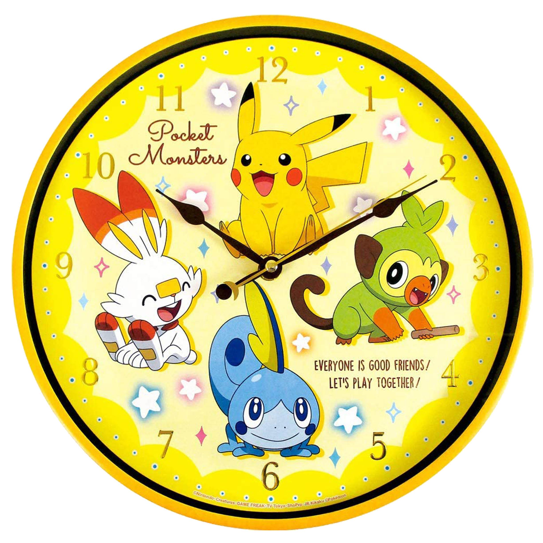秒針圓形壁掛時鐘-皮卡丘 神奇寶貝 寶可夢 Pokémon 日本進口正版授權
