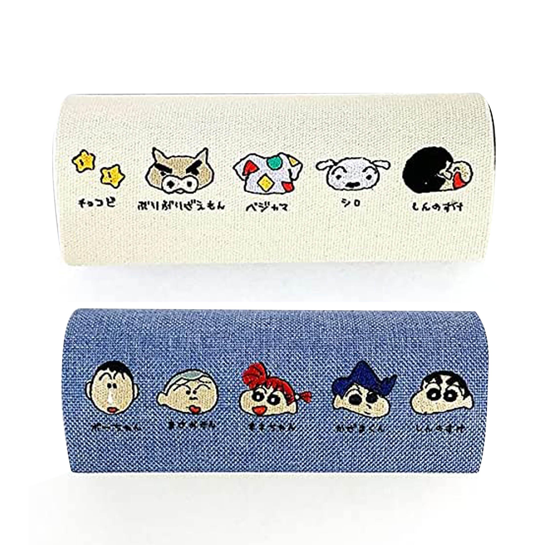 刺繡硬殼眼鏡盒-好朋友 玩具 童趣 蠟筆小新 Crayon Shin-chan COCOART 日本進口正版授權