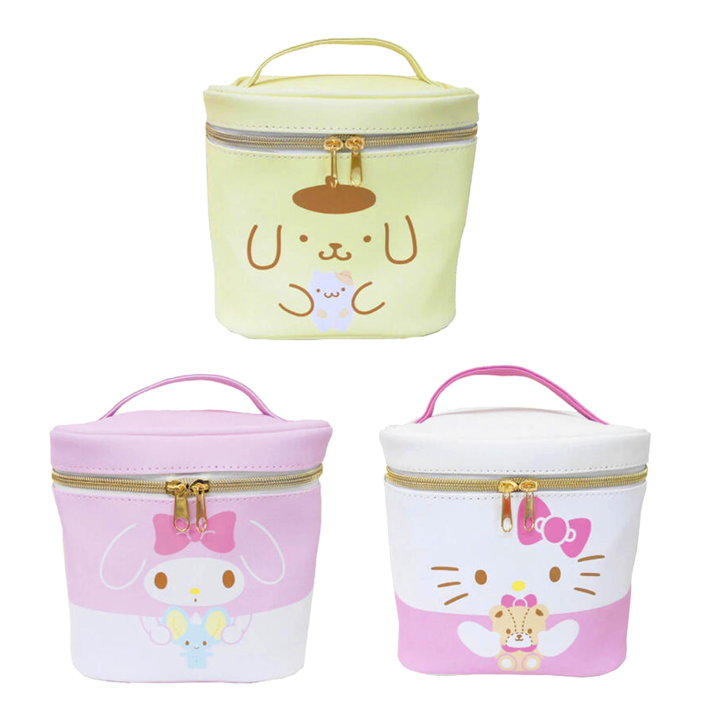 皮質手提化妝箱-凱蒂貓 美樂蒂 布丁狗 三麗鷗 Sanrio 日本進口正版授權
