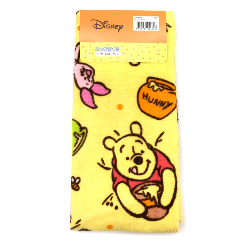 純棉毛巾 34x75cm-小熊維尼  Winnie the Pooh 迪士尼 DISNEY  日本進口正版授權