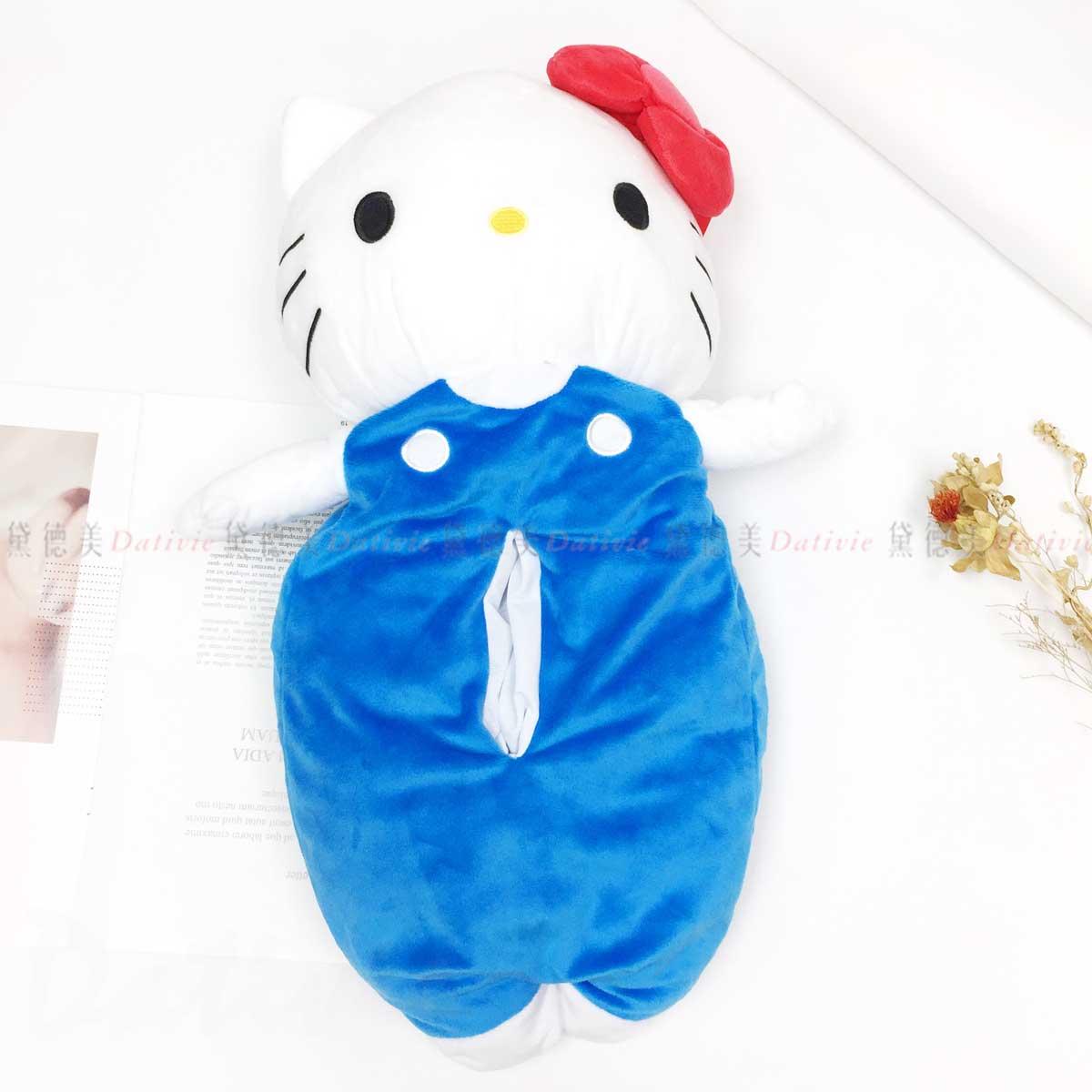 造型絨毛面紙套-凱蒂貓 HELLO KITTY 三麗鷗 Sanrio 日本進口正版授權