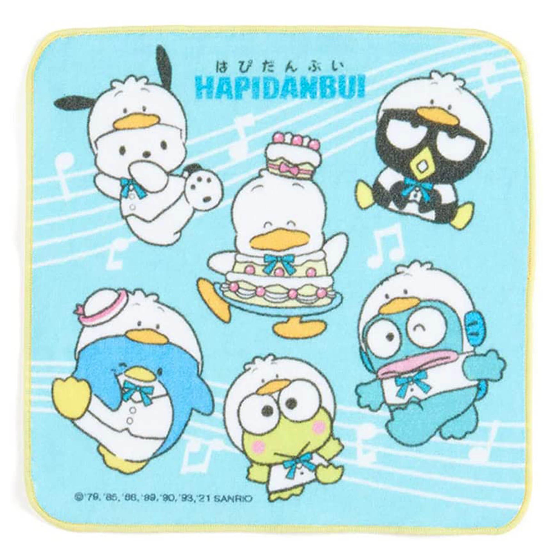 純棉方巾 25x25cm-HAPIDANBUI 三麗鷗 Sanrio Original 日本進口正版授權