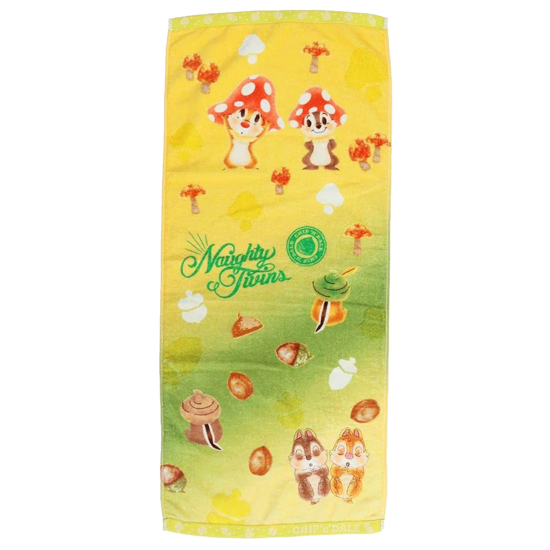 刺繡純棉毛巾 34x80cm-奇奇蒂蒂 SEK抗菌防臭 Chip 'n' Dale 迪士尼 DISNEY  日本進口正版授權