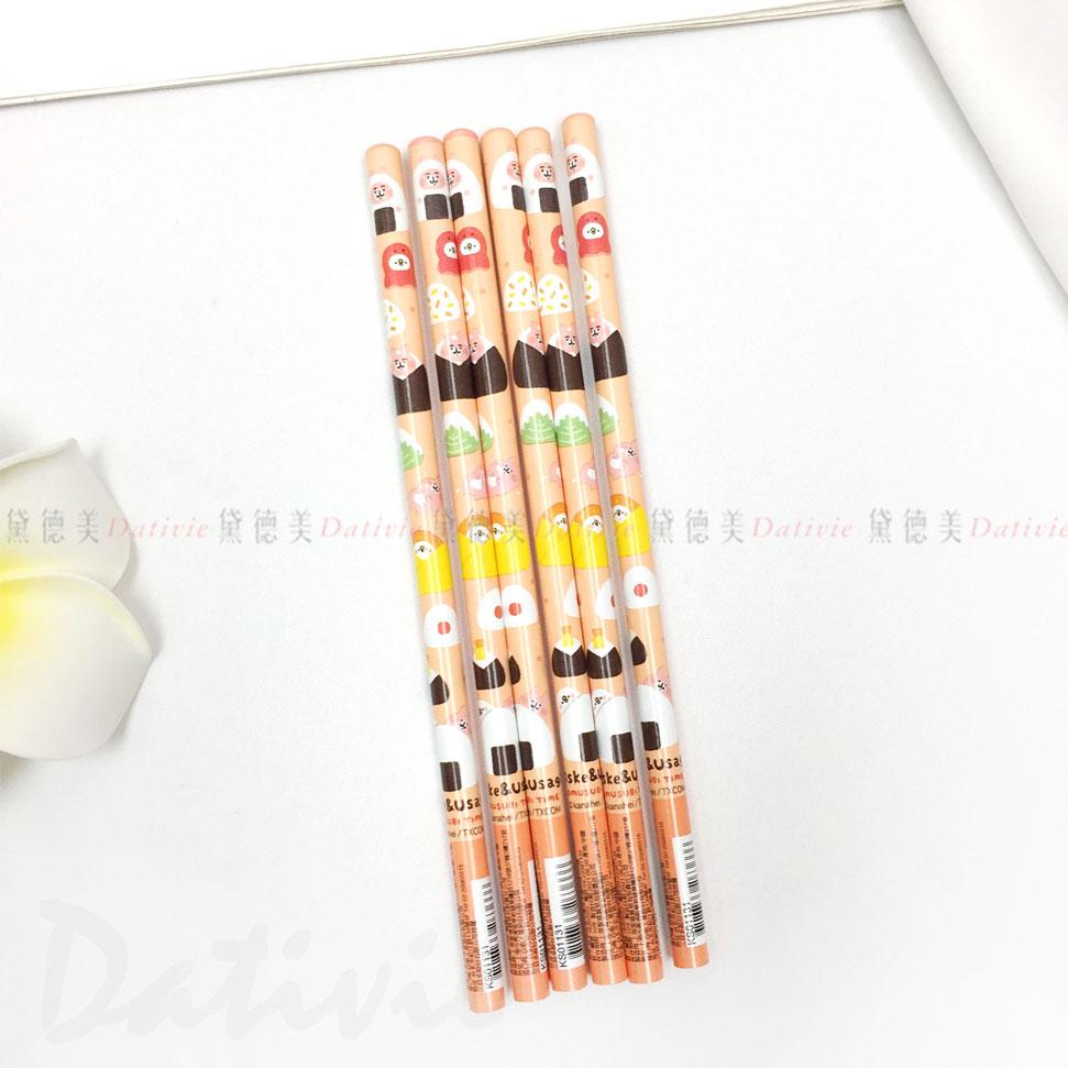卡納赫拉 卡納赫拉的小動物 木頭鉛筆6入 正版授權