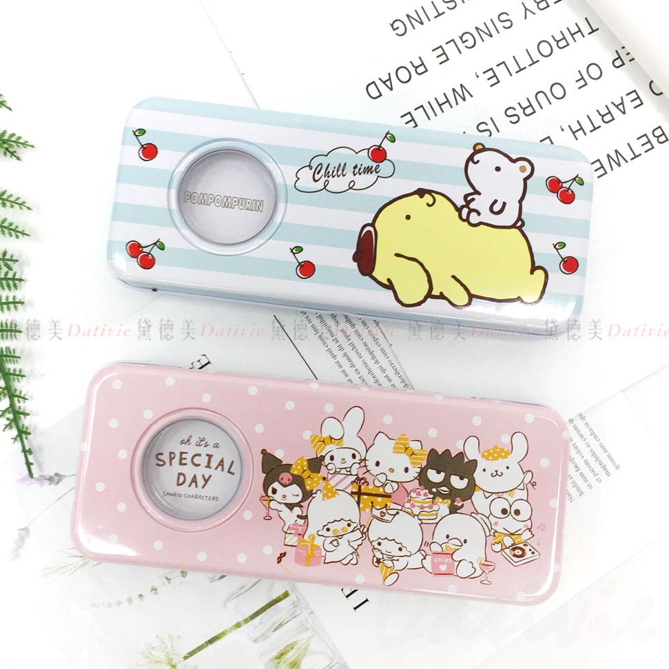三麗鷗 布丁狗 綜合版 開窗鐵筆盒 雙層 兩款 正版授權