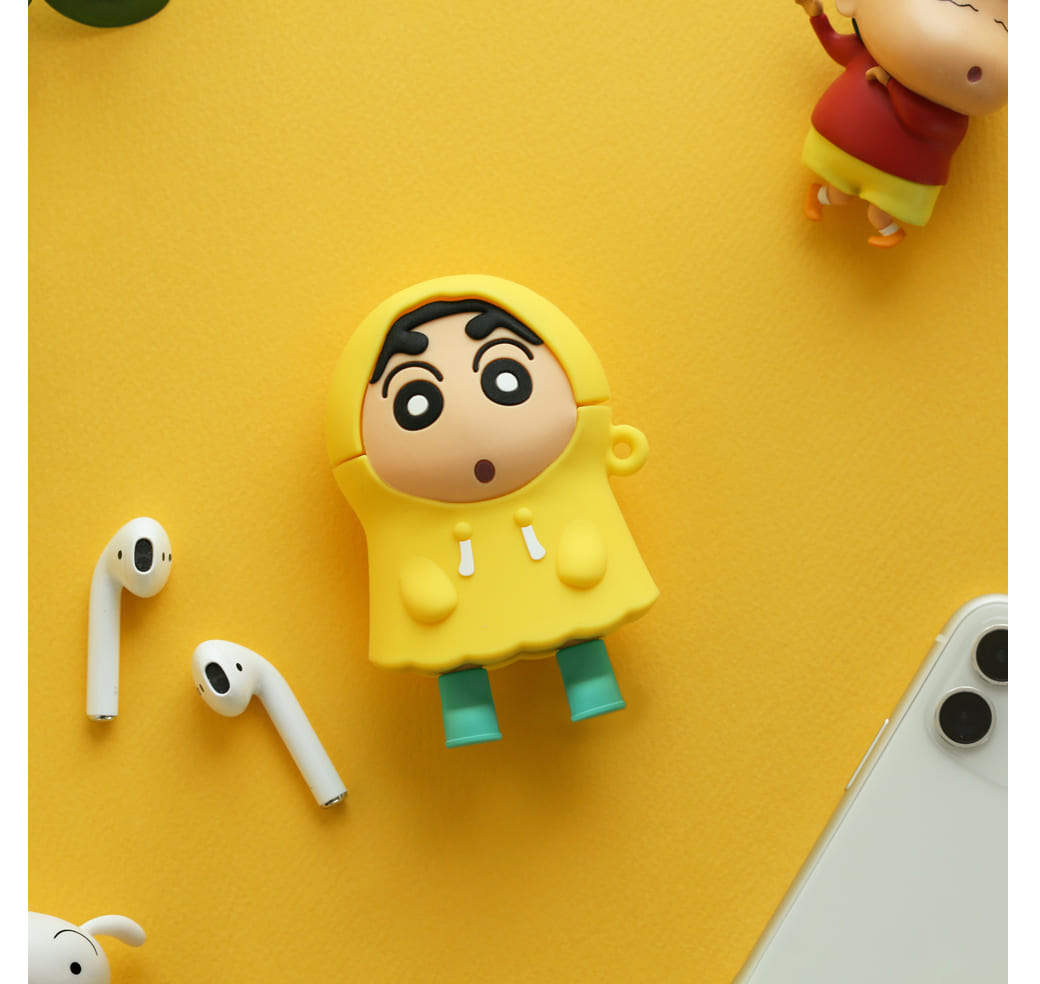 Airpods保護套-黃色雨衣 蠟筆小新 Crayon Shin Chain クレヨンしんちゃん韓國正版授權