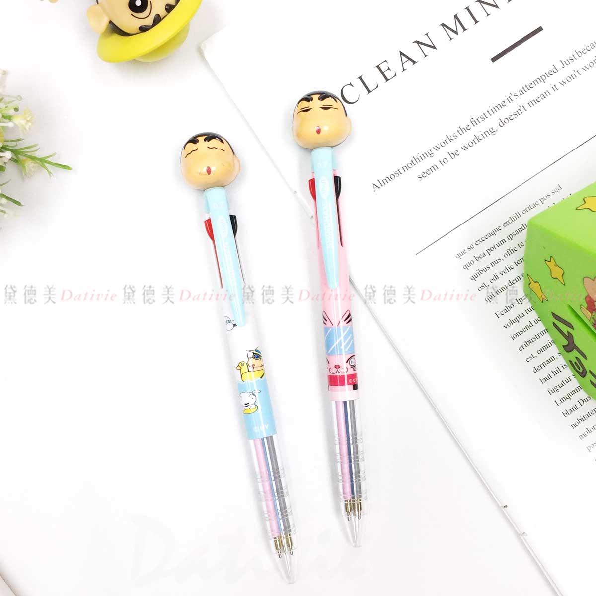 立體自動三色原子筆-蠟筆小新 韓國進口正版授權