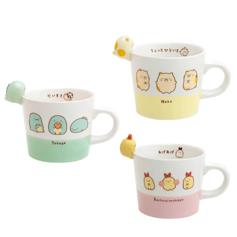 陶瓷造型馬克杯-貓咪 恐龍 炸蝦 角落生物 sumikko gurashi san-x 日本進口正版授權