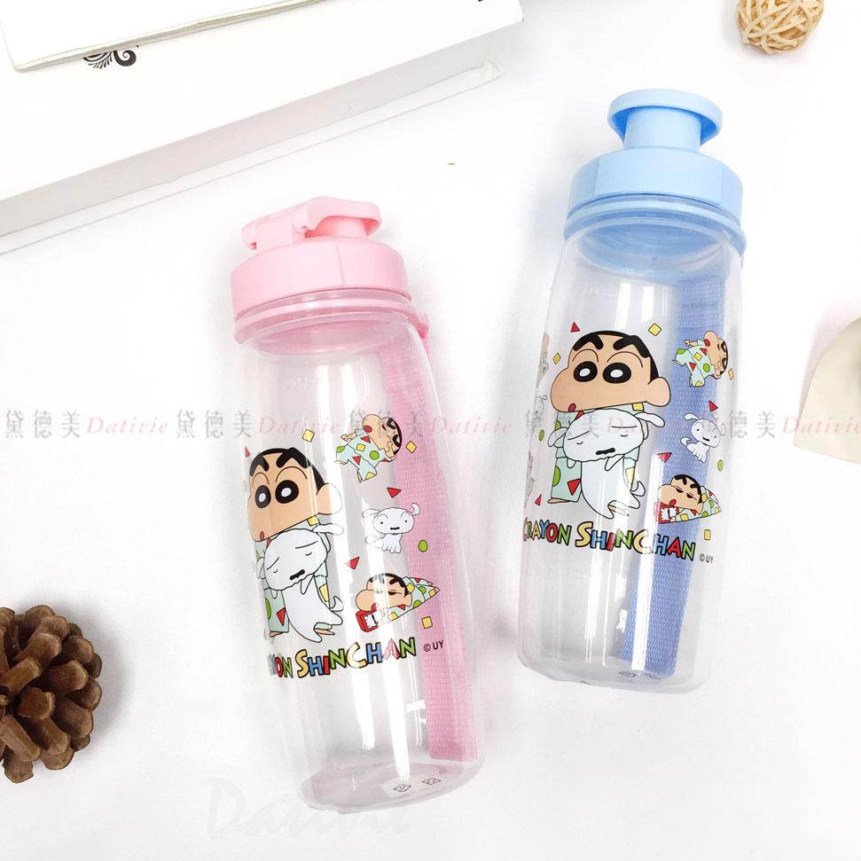 蠟筆小新 透明塑膠水瓶 吊帶式 500ml 睡衣 兩色 正版授權
