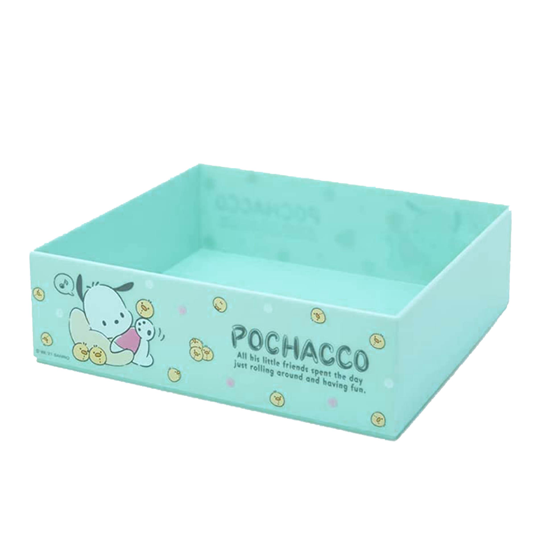 無蓋塑膠收納盒 M-帕洽狗 Pochacco 三麗鷗 Sanrio Original 日本進口正版授權
