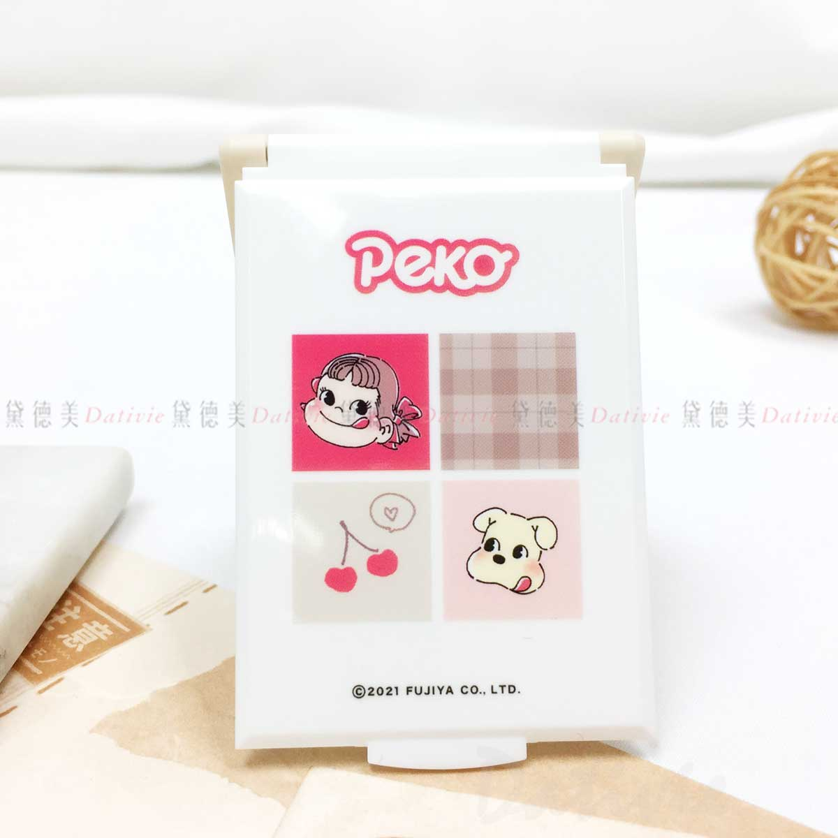 迷你摺疊鏡-MIRROR 不二家 PEKO FUJIYA 三麗鷗 Sanrio 日本進口正版授權